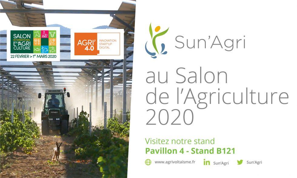 """Featured image for """"Sun'Agri au Salon International de l'Agriculture 2020 du 22 Fév au 1 mars !"""""""